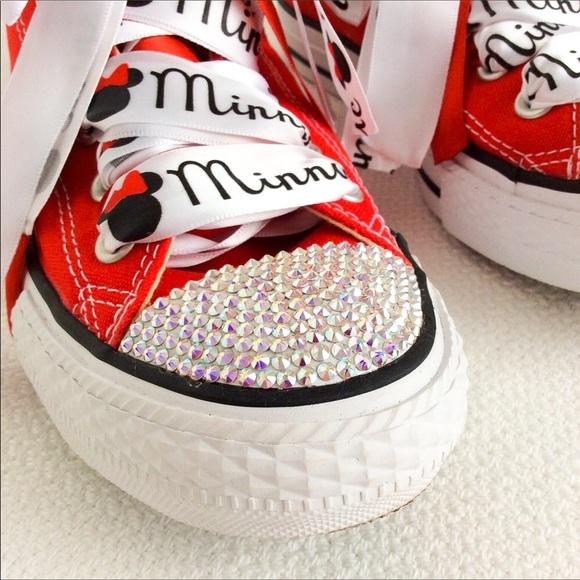 002ae3c70 Converse Shoes | Swarovski Crystal Disney Minnie Mouse Nwt | Poshmark
